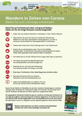 Wandern in Corona-Zeiten
