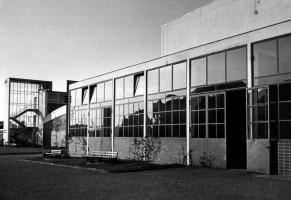 Werkstatt, Bogenhalle und Treppenhaus kurz nach der Erbauung