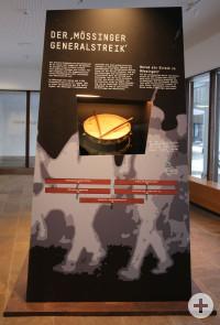 Zentrales Objekt auf der ersten Seite ist die Trommel der Antifaschistischen Aktion Mössingen