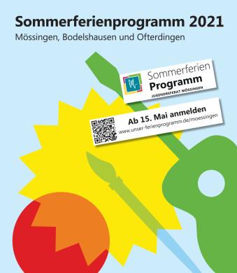 Sommerferienprogramm 2021 Plakat zur Anmeldung