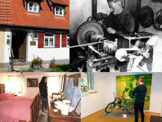 Collage mit Bildern der vier Mössinger Museen