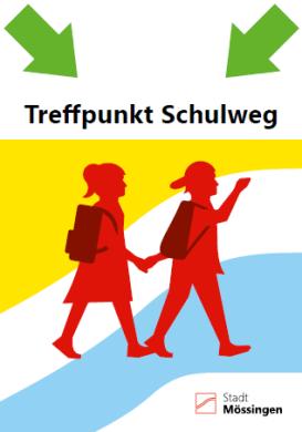 Plakat Treffpunkt Schulweg